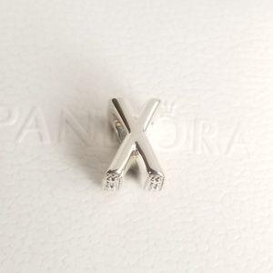 Pandora Letter X Alphabet Silver NWT 925 Ale